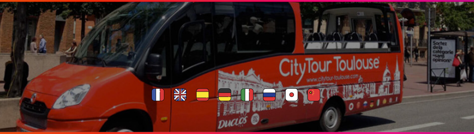 Toulouse Welcome - Encart Minibus City Tour Toulouse